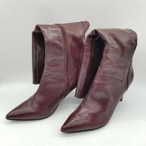 Nine West Sugarfluff Leather Boots Heels